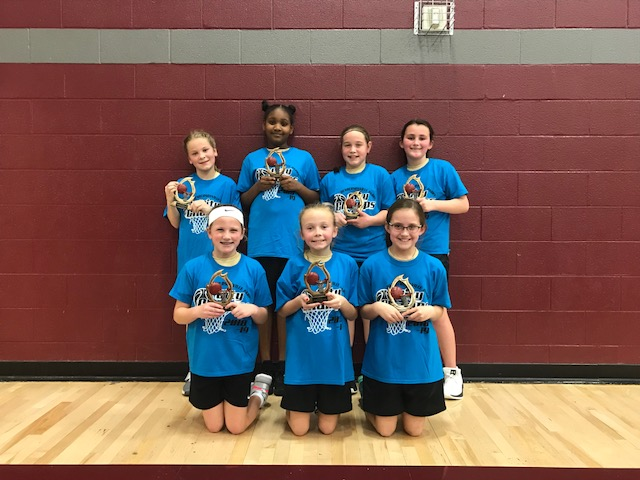 2018-19 Basketball 4th Grade Girls City Champs Team Hines