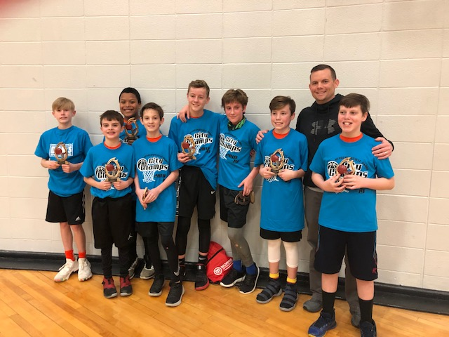 2018-19 Basketball 6th Grade Boys City Champs Team Painter