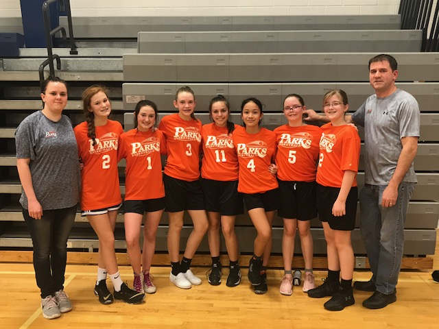2018-19 Basketball 6th to 8th Grade Girls City Champs Team Thelen