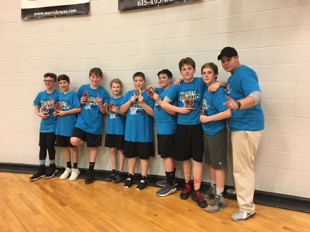 2018-19 Basketball 7th Grade Boys City Champs Team Templeton