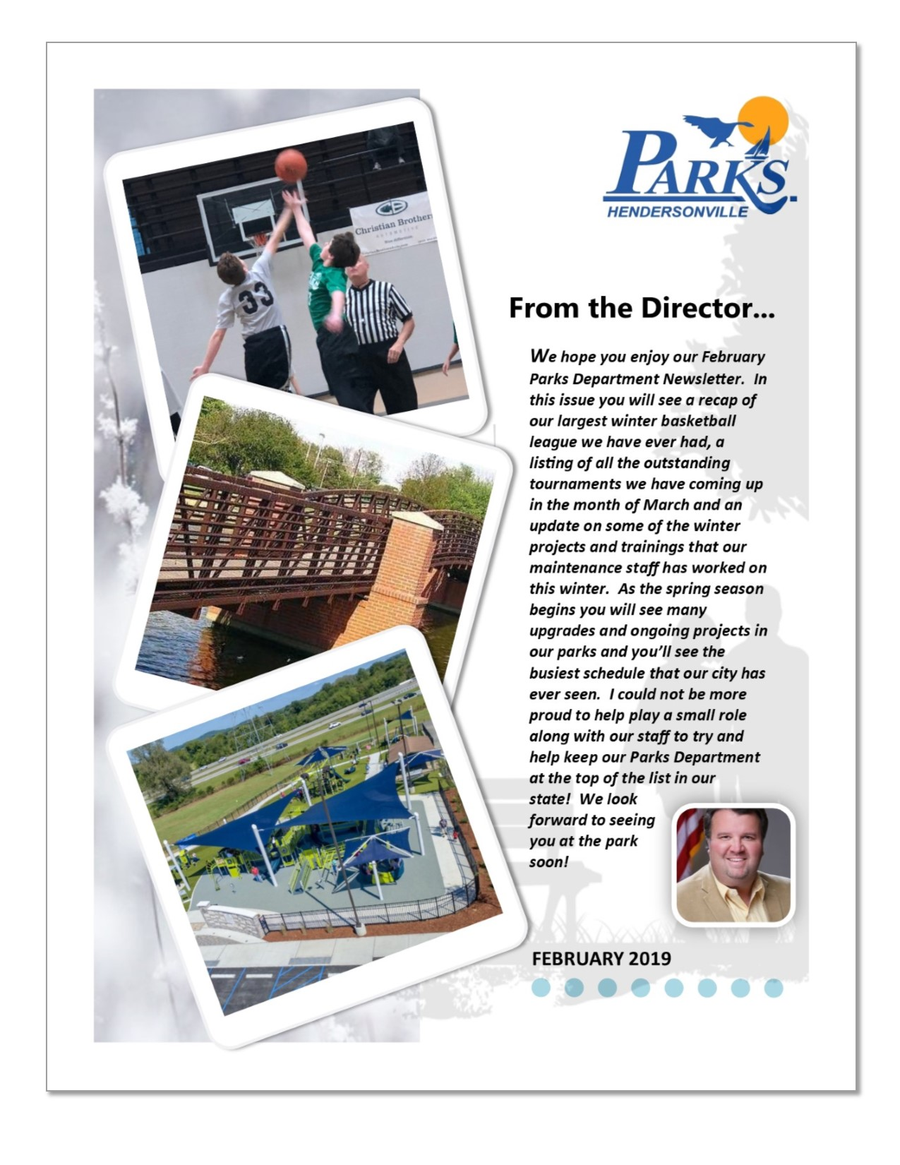 February 2019 Parks Newsletter front page